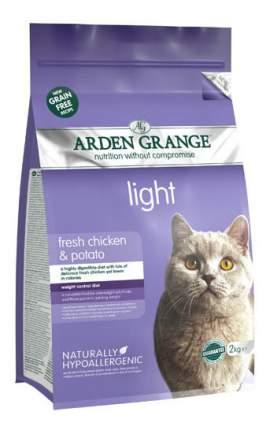 Сухой корм для кошек Arden Grange Light, беззерновой, диетический, курица, 2кг
