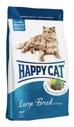 Сухой корм для кошек Happy Cat Fit & Well, для крупных пород, птица, ягненок, яйца 0,3кг