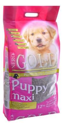Сухой корм для щенков NERO GOLD Puppy Maxi, для крупных пород, курица и рис, 12кг