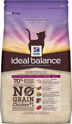 Сухой корм для кошек Hill's Ideal Balance, беззерновой, курица, картофель, 2кг