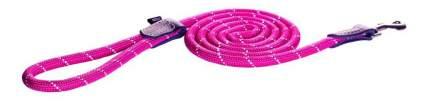Поводок удлиненный для собак Rogz Rope L-12мм 1,8 м, Розовый HLLR12K
