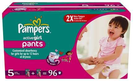 Подгузники-трусики Pampers Active Girl Junior 5 (12-18 кг), 96 шт.