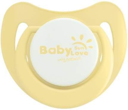 Пустышка BABY SUN LOVE Силиконовая, 3-6 мес. (PSR01003)