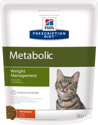 Сухой корм для кошек Hill's Prescription Diet Metabolic, диетический, курица, 0,25кг