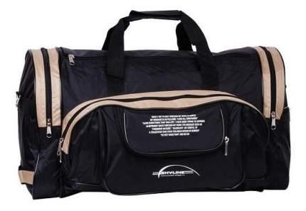 Дорожная сумка Polar П02 черная/бежевая 47 x 30 x 24