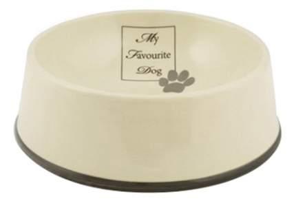 Одинарная миска для собак Beeztees, керамика, коричневый