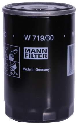 Фильтр масляный двигателя MANN-FILTER W719/30(10)