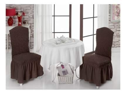 Чехол на стул KARNA Bet коричневый