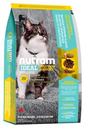 Сухой корм для кошек Nutram Indoor, для домашних привередливых, домашняя птица, 6,8кг