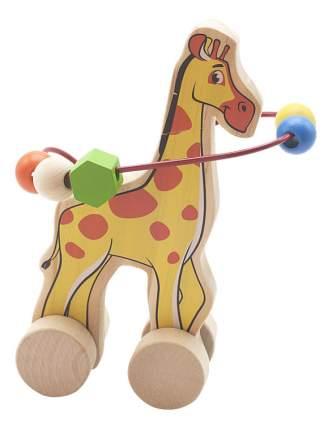 Каталка детская Мир Деревянных Игрушек Жираф