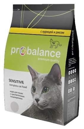 Сухой корм для кошек ProBalance Sensitive, при чувствительном пищеварении, 0,4кг