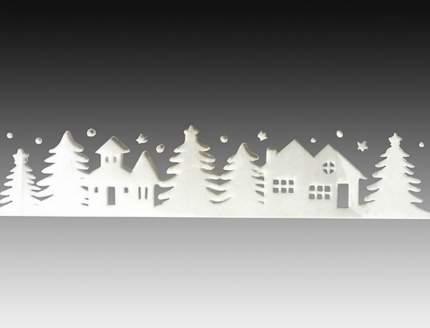 Наклейки для окна Зимний город 40*10 см RD-60215