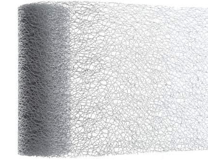 Kaemingk Декоративная лента Ажурная 200*15 см серебряная 448586