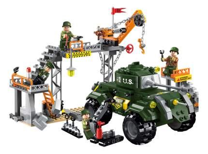 Конструктор пластиковый Brick Военный завод