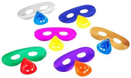 Карнавальный набор Snowmen очки с носом 6 шт. Е0311, в асс.