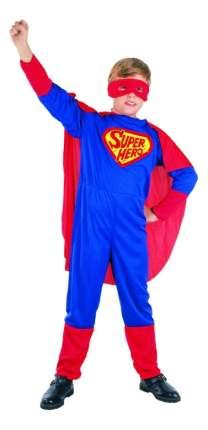 Карнавальный костюм Snowmen Супермен с плащом рост 100 см