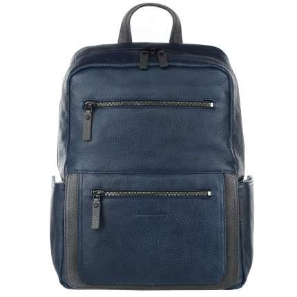 Рюкзак кожаный Piquadro Karl синий 20 л