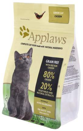 Сухой корм для кошек Applaws Senior Grain Free, для пожилых, курица, 0,4кг