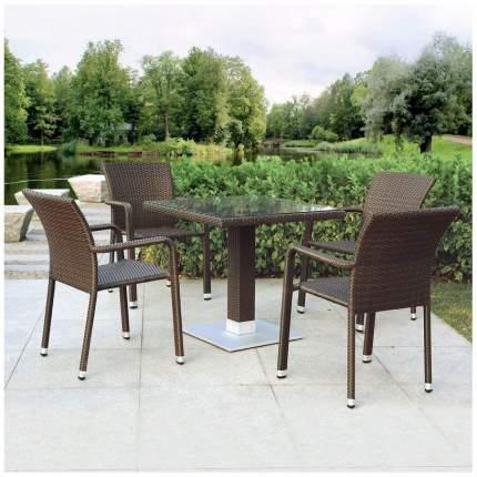 Комплект мебели Afina Garden T606SWT/A2001B-W53 Brown (4+1)