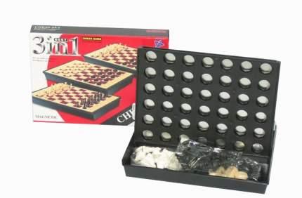 Настольная игра 3 в 1 шахматы и шашки Shantou Gepai B317992