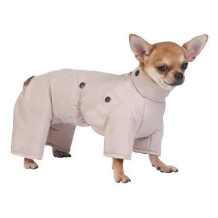 Комбинезон для собак ТУЗИК размер XXL мужской, бежевый, длина спины 45 см
