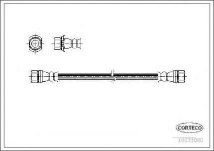 Шланг тормозной системы Corteco 19033080