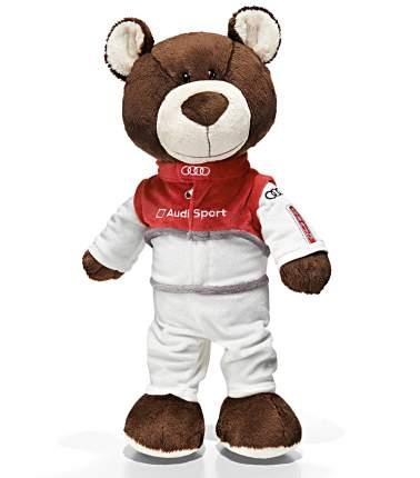 Мягкая игрушка Audi 3201500100 медведь-автогонщик 40 см