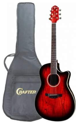 Электроакустическая гитара шестиструнная CRAFTER WB-400CE RS  Чехол