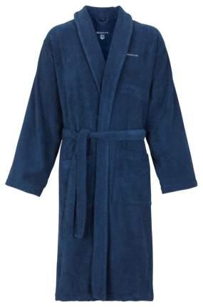 Халат махровый унисекс Gant Home PREMIUM VELOUR ROBE, размер L, синий, 100% хлопок