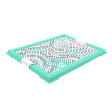 Лоток для собак ZooOne Мини, с сеткой, зеленый, 46x34x2 см