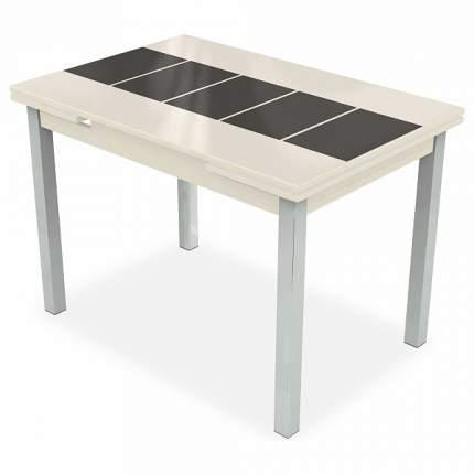 Кухонный стол Аврора мебель Стол обеденный Шанхай Каре 110-170х74х79 см хром