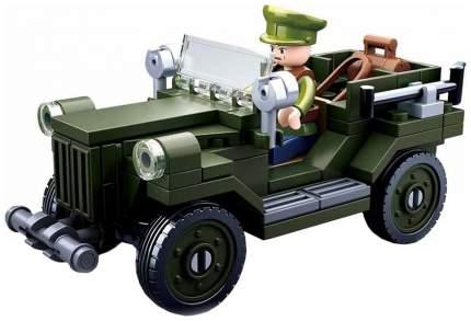 Конструктор пластиковый Sluban Военный автомобиль M38B0682