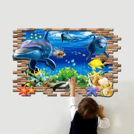 Наклейки на стену Водный мир На глубине 60х90 см Animal World