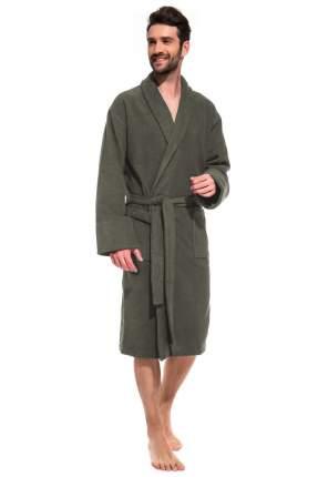 Мужской банный махровый халат Softwood Label ЕvaTeks 365, хвойный, 50-52