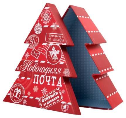 "Коробка подарочная ""Белое на красном"", 18х16х6,5 см"
