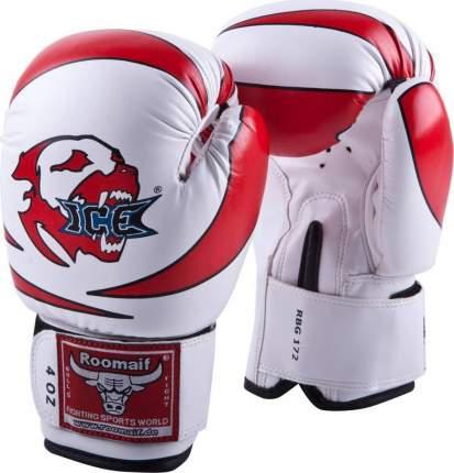 Боксерские перчатки детские Roomaif RBG-172 белые/красные 4 унции