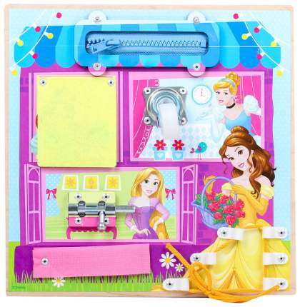 Бизиборд Развиваемся вместе Принцессы 25х25 Disney