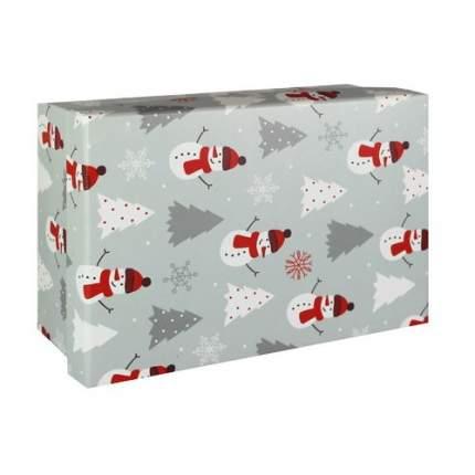 """Коробка подарочная """"Снеговики"""", 23 х 16 х 9,5 см"""