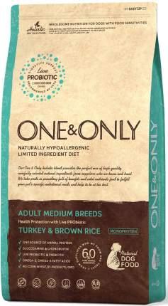 Сухой корм для собак ONE&ONLY Adult All Breeds Turkey&Rice, все породы,индейка с рисом,1кг