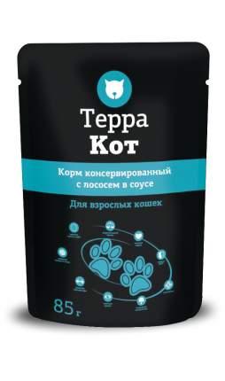 Влажный корм для кошек ТЕРРА КОТ, с лососем в соусе, 26шт по 85г