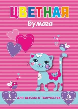Цветная бумага Феникс+ арт. 47167 Кошечка на полосках