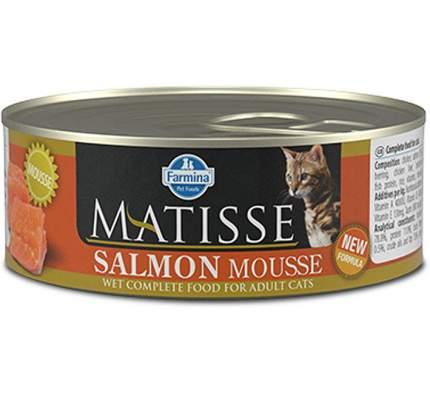 Консервы для кошек Farmina Matisse Cat Mousse, мусс с лососем, 85г