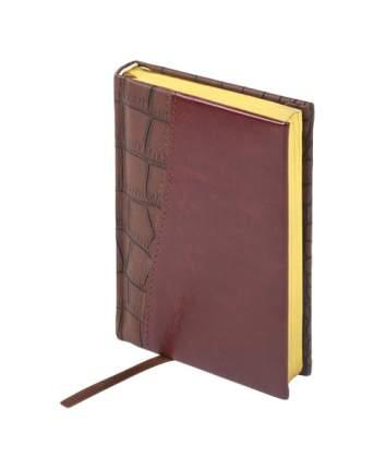 Ежедневник BRAUBERG Cayman 125103 А6 коричневый/темно-коричневый под комбинированную кожу