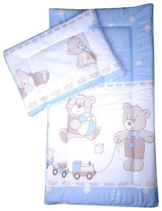 Комплект в коляску Bambola, матрасик, подушка (цвет: голубой)