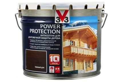 V33 Power Protection антисептик для долговечной защиты дерева 9 л, Цвет темный дуб