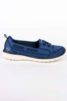 Мокасины женские Skechers 23317 синие 37.5 RU