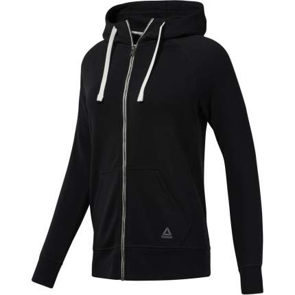 Женская толстовка Reebok Elements Fleece Full Zip BS4115 черный XXS