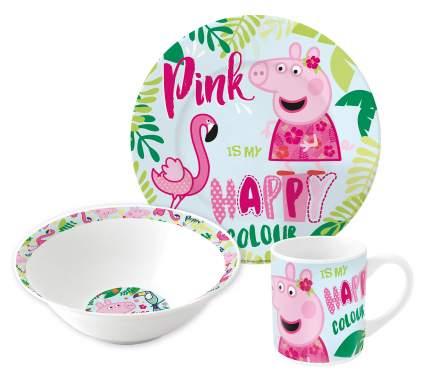 Набор посуды керамической Stor в подарочной упаковке Свинка Пеппа и Фламинго, 20165
