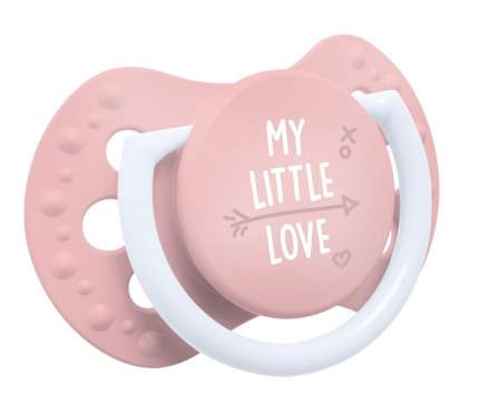 Пустышка динамическая Lovi My Little Love 22.847 силикон, 0-2 мес., 2 шт., для девочки