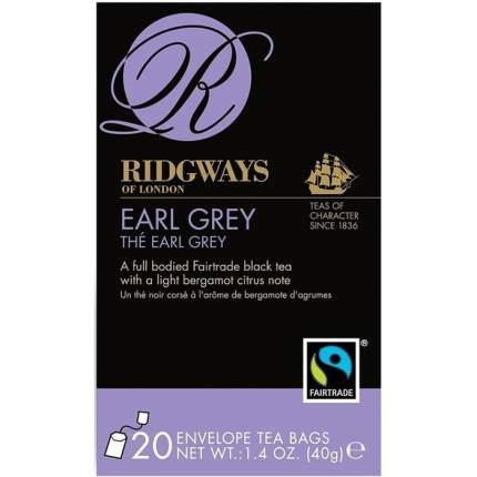 Чай черный Ridgways of London эрл грей 20 пакетиков